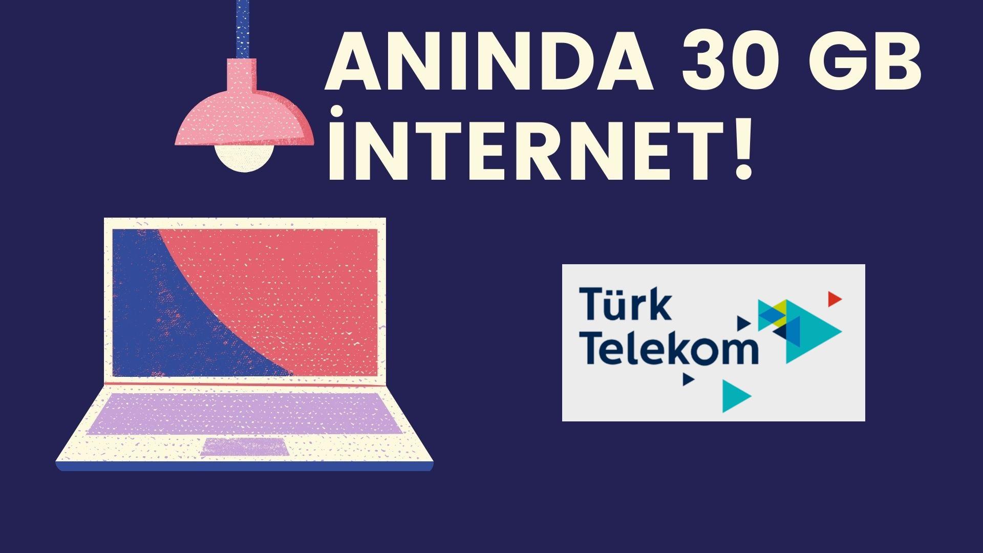 aninda turk telekom bedava internet